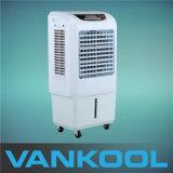 Miniluft-Kühlvorrichtung 2500m3h beweglicher und beweglicher Verdampfungskühlung-Ventilator mit Bienenwabe-Auflage
