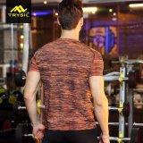 رجل تمويه ضغطة قميص مشدودة [برثبل] كم ملابس رياضيّة