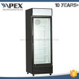 360L choisissent l'étalage droit de porte, refroidisseur droit, marchandiseur de verre de porte