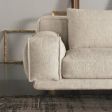Sofá del cuero genuino de la sala de estar (L720-13-1)