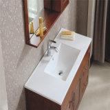 壁に取り付けられたマルチ引出しのカシの浴室用キャビネット
