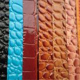 Cuoio del PVC del grano del coccodrillo per la mobilia Hw-865 del sofà
