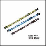 Rainbow Pattern Canvas Algodão Eco-friendly Collar de cão ajustável