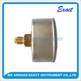 カプセル圧力正確に測ステンレス製の鋼鉄圧力正確に測中心の背部圧力計
