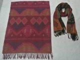 Sciarpa generale tessuta acrilica con il reticolo e la frangia aztechi