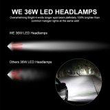2017の自動車部品C6 LED車の電球H4 H11 LEDのヘッドライト36W 3800の内腔の穂軸LEDのヘッドライト