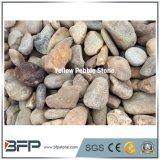 Piedra amarilla natural del guijarro de China con Higly pulido