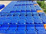Haltbares blaues sich hin- und herbewegender Ponton-Plastikdock verwendete Strahlen-Ski-Gleitbetrieb