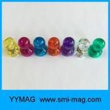 Pinos magnéticos desobstruídos coloridos decorativos para o refrigerador