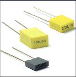 mini condensatore a forma di scatola ammassante della pellicola di poliestere di Metallzied dell'imballaggio 0.47UF