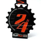 Medallas de encargo de la competición de la corrida del maratón con color negro