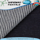 100% coton Indigo Waffle Knitted Denim Fabric for Men's Polo