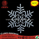 Licht van Kerstmis van de LEIDENE het Witte het Hangen Sneeuwvlok voor de Decoratie van Kerstmis