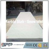 Lastre di marmo bianche cinesi di Carrara & bianche come la neve, mattonelle per la decorazione interna di uso di progetti