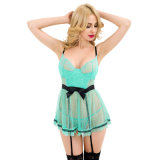Fast Delivery Lace Babydoll Nightgown Women Underwear Lingerie Sexy