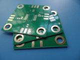 Oro de la inmersión de la tarjeta echada a un lado del doble del PWB RO4350b 20mil el de alta frecuencia