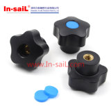 China Fasteners Supplier Boutons de meuble en nylon en plastique amovibles avec écrou d'insertion M8