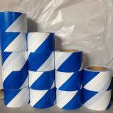 Nachweisbare blaue weiße Fußboden-Markierungs-warnendes Vorsicht-Band