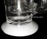 Die neue Entwurfs-weiße Jade gestickte Glaspfeife, Glaswasser-Rohr