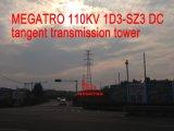 Megatro 110кв 1d3-Sz3 постоянного тока касательной трансмиссии в корпусе Tower