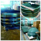 HP300 côncavo na fundição de aço elevada do manganês, Mn18cr2, Mn13cr2, peças sobresselentes do triturador do cone de Metso de equipamentos da maquinaria de mineração