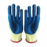 cotone 10g con i guanti rivestiti del lattice blu