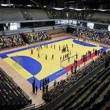 屋内安い体操またはハンドボールPVCスポーツの床張り