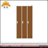 Jas-026 Luoyang mobiliário de alta de aço 3 Ginásio Porta roupas de Metal Locker / armário metálico