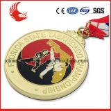 2016 medaglie in lega di zinco di sport dei materiali di nuovo disegno con il nastro