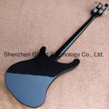 Black (GB-27)에 있는 Chrome Hardware를 가진 Rickenback 4003 Style Electric Bass Guitar