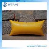 Polymère en bloc de pierre de rendement élevé poussant le sac et le coussin