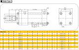 Cilindro sostituto dell'olio idraulico del doppio ad alta pressione