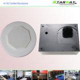 Peça fazendo à máquina do CNC do plástico revestido de alumínio do pó preto POM da precisão