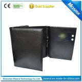 Promoção LCD 4.3inch brochuras Cartões de vídeo com couro