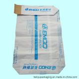 백색 탄소 검정을%s 벨브 입, 실리카 (10kg)를 가진 Kraft 다층 종이 봉지