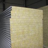 La producción de chapa de acero de color Sándwich de lana de roca de la Junta compuesto