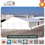 Barraca de alumínio do armazém da alta qualidade com os Sidewalls lisos do PVC do branco para o uso provisório