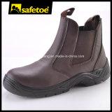 De vlotte Schoenen van de Veiligheid van de Teen van het Staal van het Leer voor Werkman