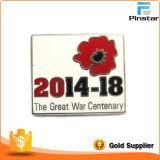 Fabricants Custom Metal Crafts Big Poppies Imitation Enamel Badge Metal Insigne commémoratif Badge en métal