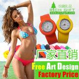 Horloge van de Manchet van het Silicone van het Ontwerp van de Douane van de fabriek het In het groot Waterdichte