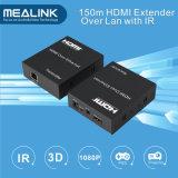 150m HDMI over Enige Cat5 CAT6 Vergroting (IR+HDMI over TCP/IP)