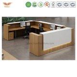 Mesa de recepção moderna com o gabinete lateral que curva a tabela e o fornecedor dos amortecedores