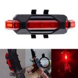 Gebirgsendstück-Licht-Sicherheits-warnendes Fahrrad-hinteres Licht des USB-nachladbares rotes weißes Blau-LED