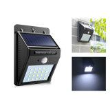 20 LED 날이 샐 것이다 황혼을%s 가진 옥외 태양 센서 LED 가벼운 PIR 운동 측정기 태양 램프 탐지 범위 어두운 안전 빛