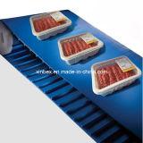 Förderband FDA-blaues PU-Cleats/V-Guides für Nahrungsmitteldas aufbereiten