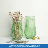 Vaso colorato costolato della bottiglia di vetro