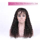 Парик шнурка Италии волос Remy девственницы курчавый китайский полный с волосами младенца