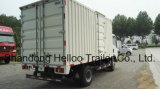 Sinotruk HOWO 4X2はヴァンTruck Lightの貨物トラックを6トンボックストラック運ぶ