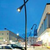 LED-Beleuchtung-dekoratives gebogenes Leuchtstofflicht-Aluminium Pole