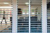 Fissare la finestra di alluminio della feritoia della gelosia del blocco per grafici di impermeabilizzazione dello scassinatore